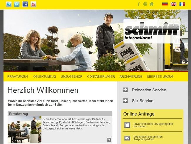 Webdesign und Programmierung (PCOM Schopfheim) für DMS Schmitt GmbH