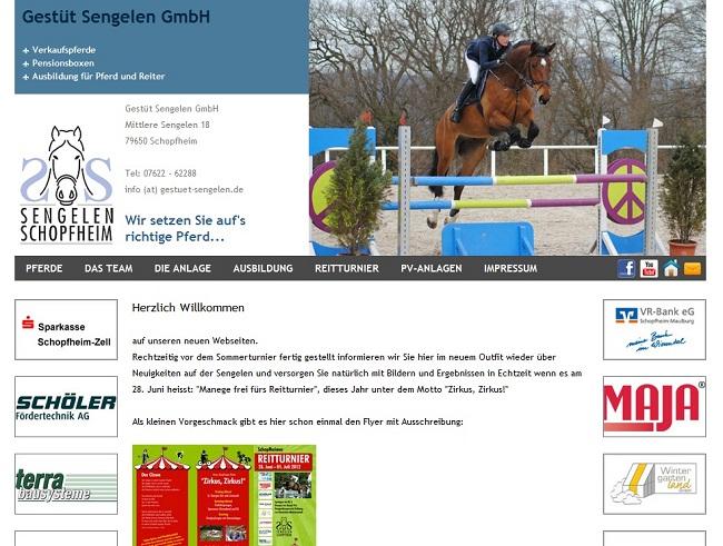 Webdesign und Programmierung (PCOM Schopfheim) für Gest�t Sengelen GmbH